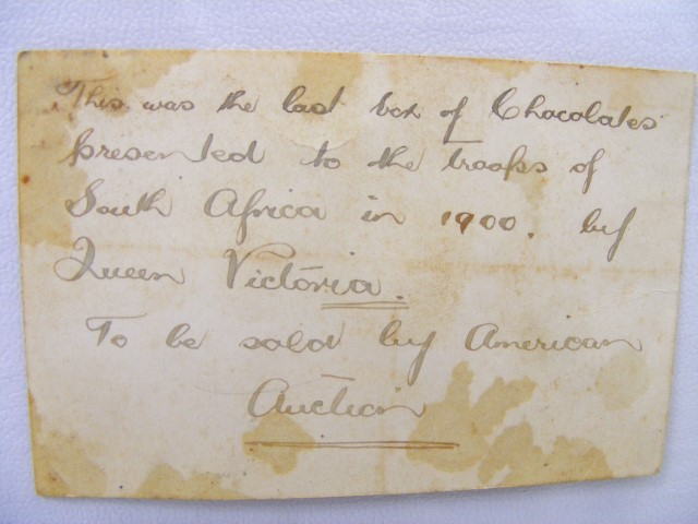 Note on 1900 old chocolates