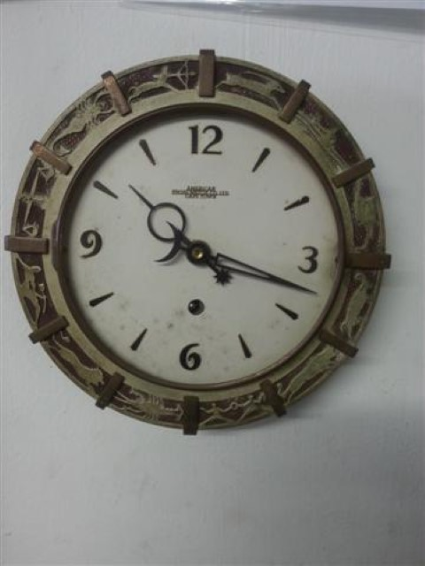 Wind up wall clock R800 American Swiss Watch Co Cape townall