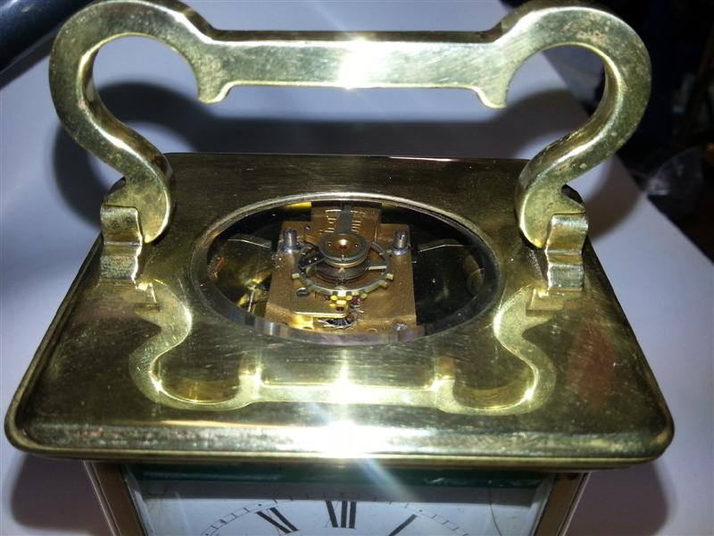 Carriage clock top view